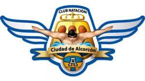 Logotipo del club de natación de la ciudad de alcorcón