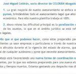 Jose Miguel Celdrán - publicación en Diariolaley