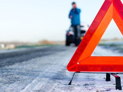 señalización de accidente de tráfico